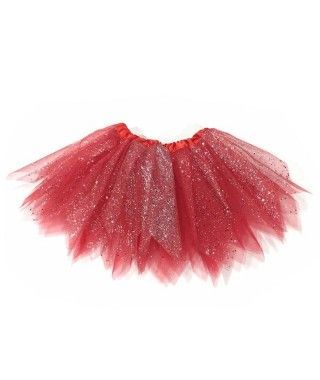Tutú Rojo Purpurina Halloween Infantil