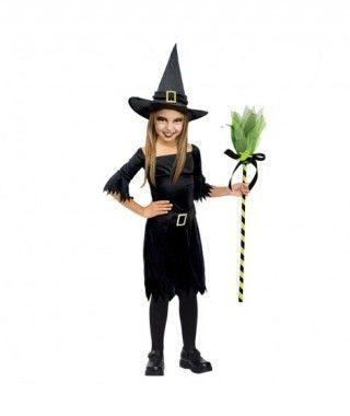 Disfraz Bruja Negra para niña
