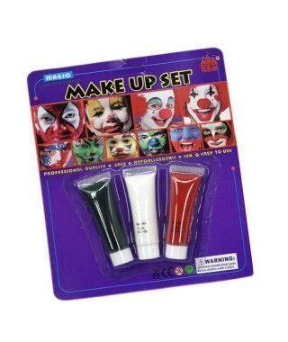 Set Tubos Maquillaje Rojo Negro Blanco