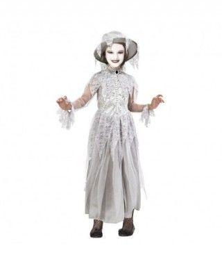 Disfraz Fantasma Victoriana para niña