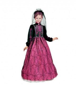 Disfraz Pink Skeleton Deluxe para niña