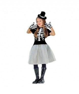 Disfraz Esqueleto Tutú para niña