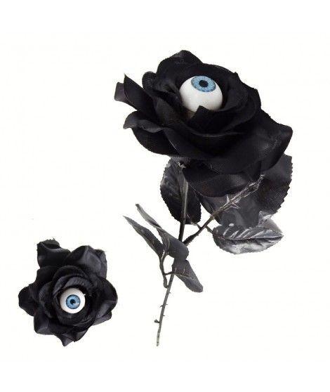Rosa Negra con Ojo