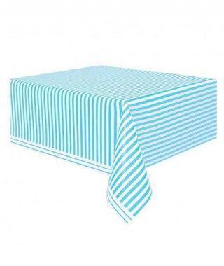 Mantel Rayas Azul Blanco