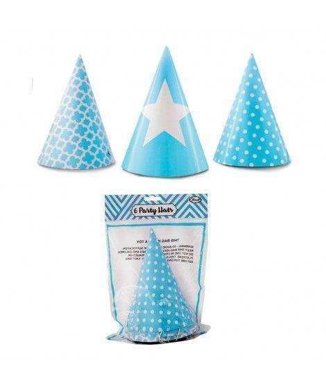 Gorro de papel Azul
