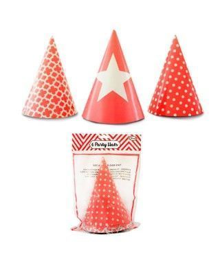 Gorros de papel Rojo