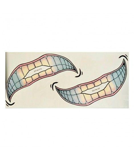 Tatuaje FX Facial Sonrisa Jocker (2 unidades) Efectos Especiales