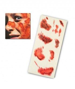 Tatuaje FX Heridas de Abrasión (7 piezas) Efectos Especiales