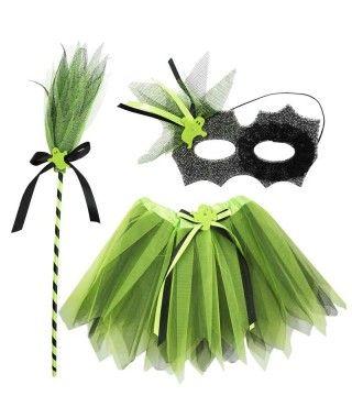 Conjunto Fantasma Verde Tutú (3 pcs) Infantil