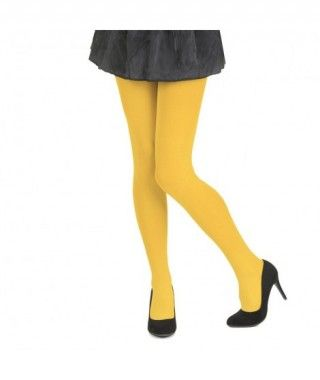 Pantys Amarillos Adulto Lisos