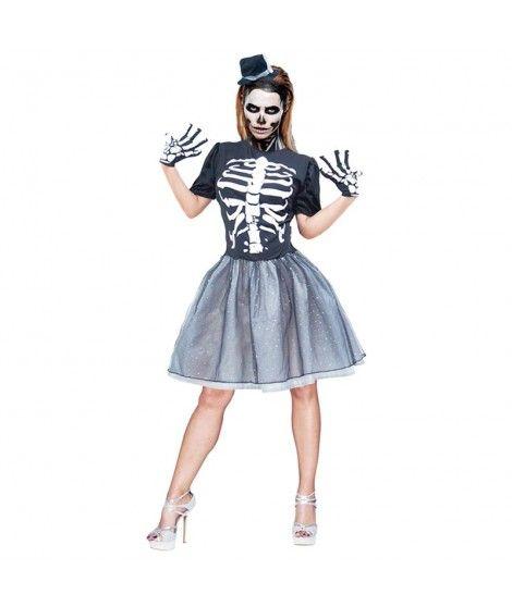 Disfraz Esqueleto Tutu Para Mujer