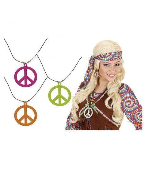 Collar Hippie Colgante Símbolo de la Paz Accesorio Carnaval