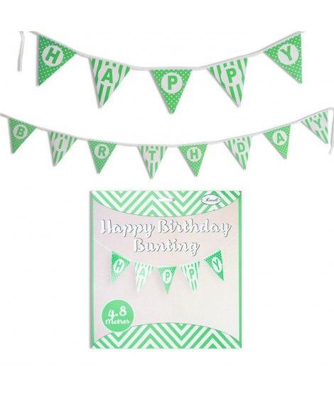 Guirnalda Banderines Happy Birthday (Feliz Cumpleaños) Verde (480 cm)