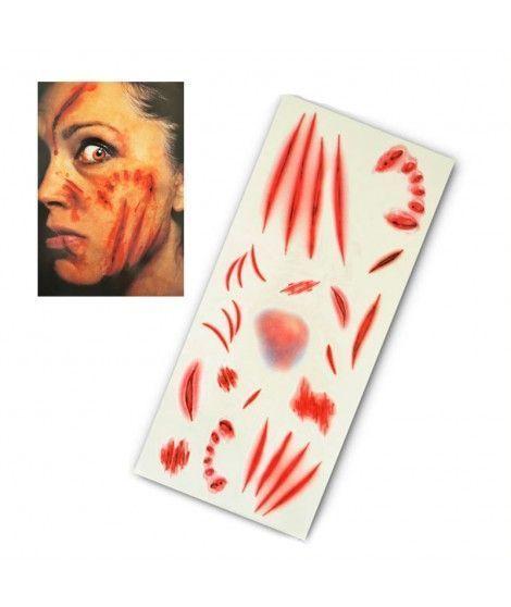 Tatuaje FX Heridas y Arañazos (16 piezas) Efectos Especiales