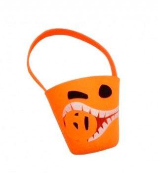 Cubo Chucherías Truco o Trato Halloween de Calabaza Comecalabazas