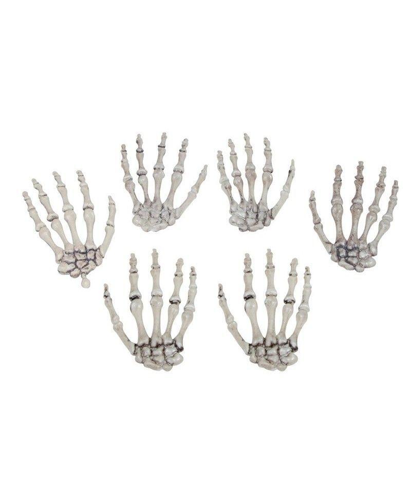 Huesos de mini mano (8 unidades) Decoración Halloween