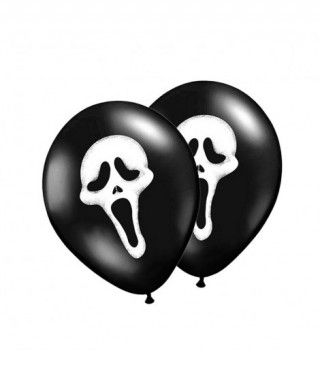 Globos Negros Scream (12 unidades)