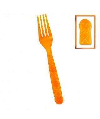 Tenedores de Plástico Desechables Halloween (12 unidades)