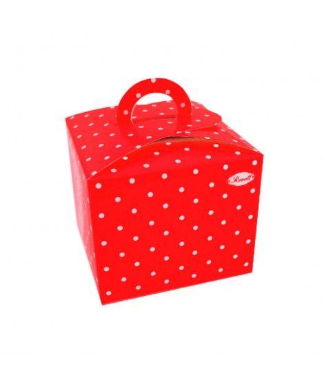 Cajas Cupcake con Asa Lunares Rojo (4 uds)