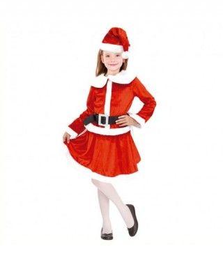 Disfraz Mamá Noel para niña Deluxe