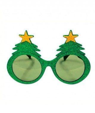 Gafas Árbol Navidad Purpurina
