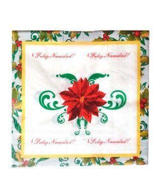 Servilletas de papel Feliz Navidad 16x16cm (20uds)