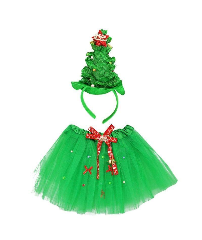 Conjunto navidad tut y diadema rbol navidad verde for Arbol navidad verde