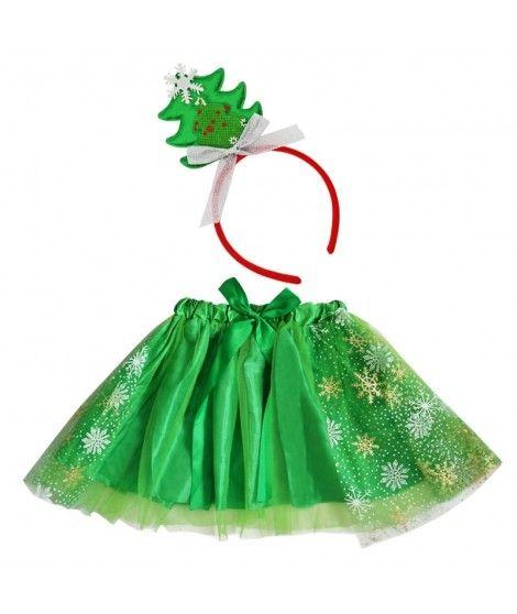 Conjunto Navidad Tutú Diadema Árbol de Navidad