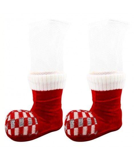 Bota portabotella Navidad decoración (2 uds)