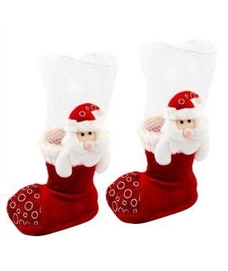 Bota caramelos Navidad decoración (2 uds)