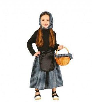 Disfraz Castañera para niña Cuadros