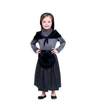Disfraz Castañera para niña Rayas
