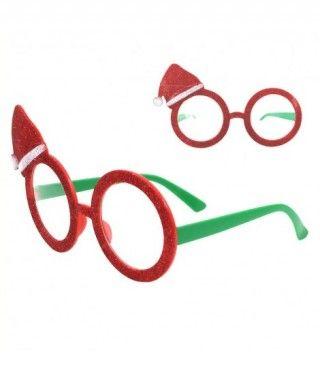 Gafas Papa Noel Purpurina