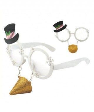 Gafas Snowman Nariz Purpurina