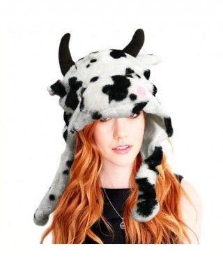 Gorro Vaca de Peluche