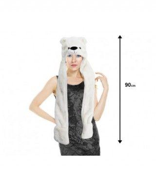 Gorro Oso Polar de Peluche con Bufanda