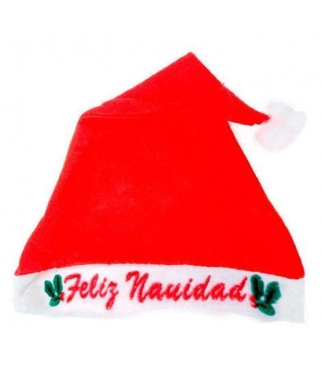 Gorro Navidad Papá Noel Feliz Navidad fieltro