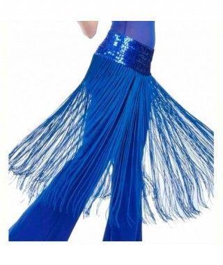 Cinturón Azul Flecos y Lentejuelas