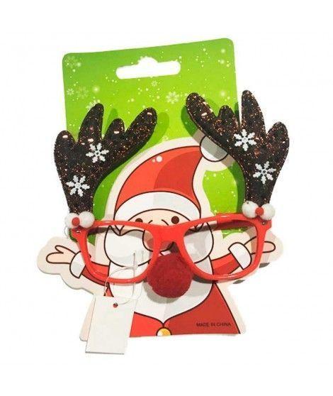 Gafas Montura Reno Navidad con Nariz