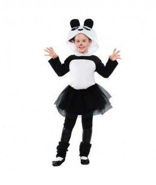 Disfraz Oso Panda Tutú para niña
