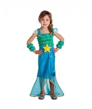 Disfraz Sirenita Estrella para niña