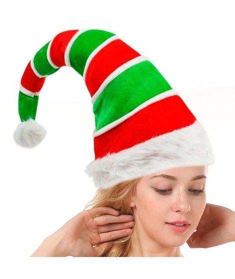 Gorro Navidad rayas y pompón