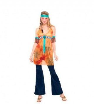 Disfraz Hippie California para mujer