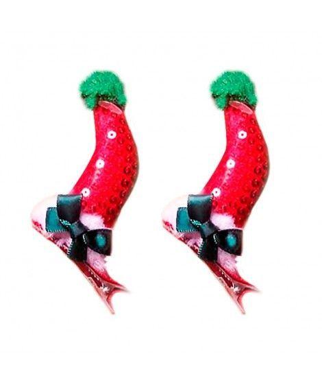 Pinzas Pelo Gorro Navidad (2 uds)