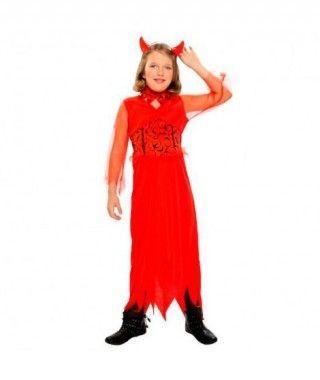 Disfraz Diablesa roja Picos para Niña
