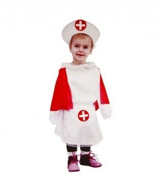 Disfraz Enfermera Capa Roja para Niña