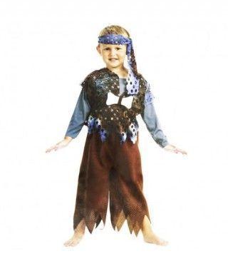 Disfraz Troglodita Azul Combinado para Niño