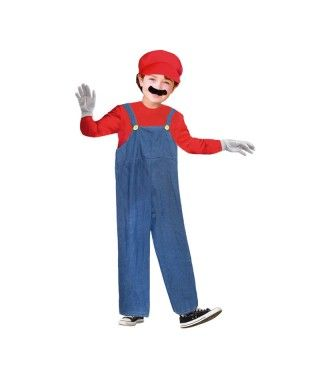 Disfraz Fontanero rojo Mario niño infantil Carnaval