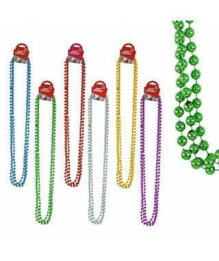Collar abalarios redondos metalizados (3 uds)