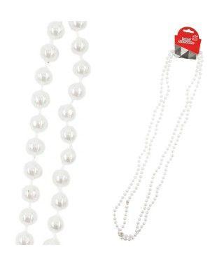 Collar Perlas Accesorio Fiesta (2 uds)